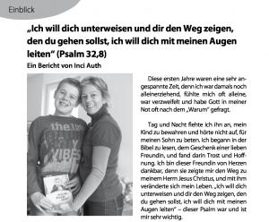 Artikel Gemeindebrief Waldkirche