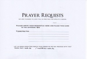 Prayer Request USA